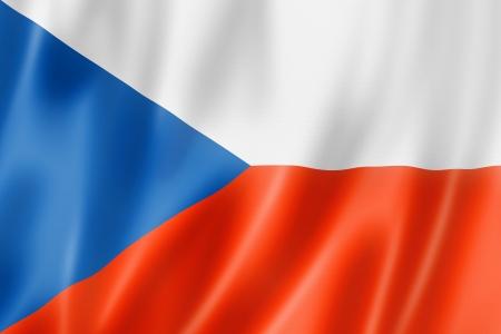 czechoslovakia: Czech Republic flag, three dimensional render, satin texture