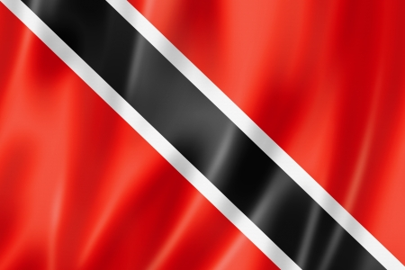 national flag trinidad and tobago: Trinidad And Tobago flag, three dimensional render, satin texture Stock Photo