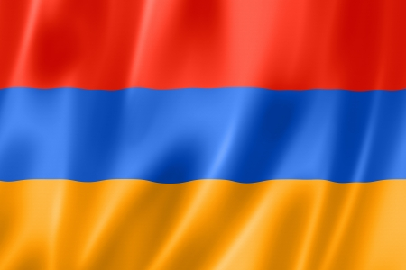 Armenia flag, three dimensional render, satin texture Stock Photo - 14282840