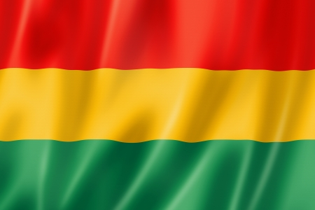 Bolivia flag, three dimensional render, satin texture Stock Photo - 14282828