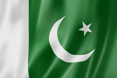 pakistani: Pakistan flag, three dimensional render, satin texture Stock Photo