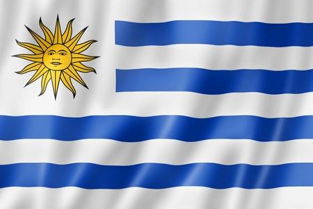 bandera de uruguay: Bandera de Uruguay, tres de representación tridimensional, textura satinada