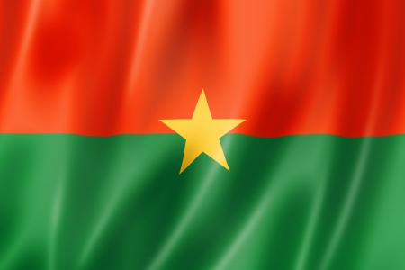 Burkina Faso flag, three dimensional render, satin texture Stock Photo - 15091597