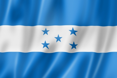 Honduras bandera, render tres dimensiones, textura satinada photo