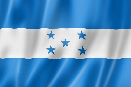bandera de honduras: Honduras bandera, render tres dimensiones, textura satinada Foto de archivo