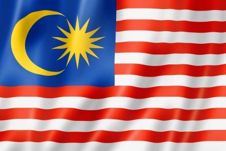 Malaisie drapeau, trois dimensions de rendu, texture satinée Banque d'images - 15091666