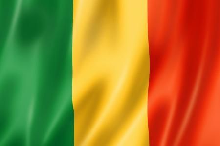 mali: Mali flag, three dimensional render, satin texture