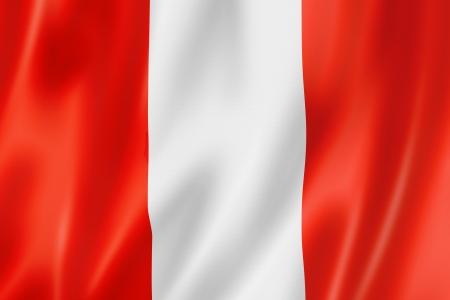 bandera de peru: Bandera de Perú, tres render tridimensional, textura satinada