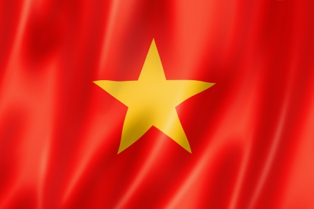 Vietnam flag, three dimensional render, satin texture Stock Photo - 15091596