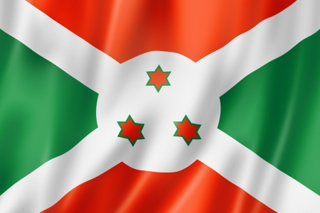 burundi: Burundi flag, three dimensional render, satin texture Stock Photo