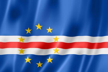 cape verde flag: Cape Verde flag, three dimensional render, satin texture