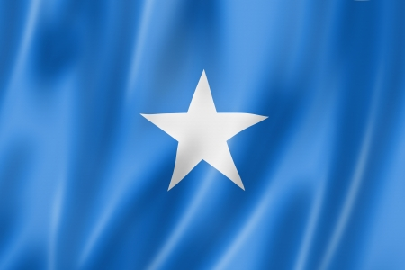 Somalia flag, three dimensional render, satin texture photo