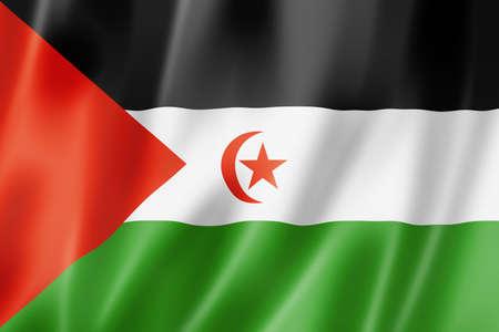 sahrawi arab democratic republic: Sahrawi Arab Democratic Republic flag, three dimensional render, satin texture