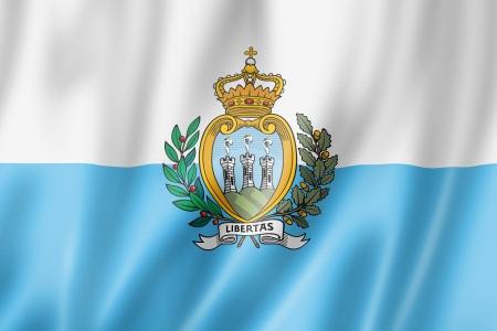 marino: San Marino flag, three dimensional render, satin texture