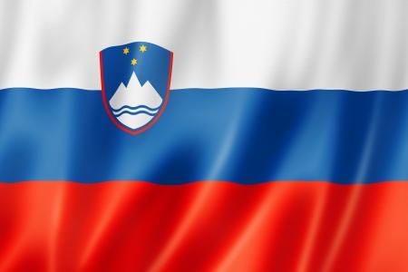 slovenia: Slovenia flag, three dimensional render, satin texture Stock Photo