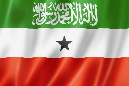somaliland: Somaliland flag, three dimensional render, satin texture Stock Photo