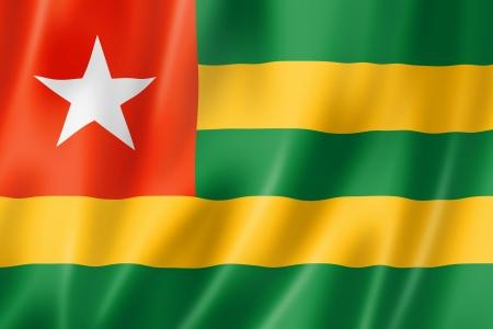 togo: Togo flag, three dimensional render, satin texture Stock Photo