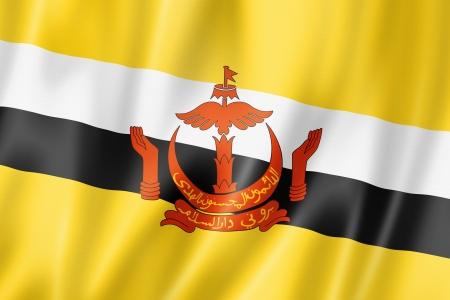 brunei: Brunei flag, three dimensional render, satin texture Stock Photo