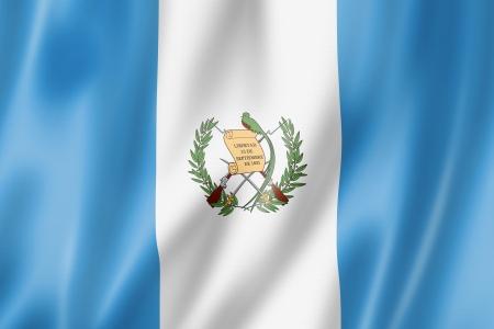 guatemala: Guatemala flag, three dimensional render, satin texture