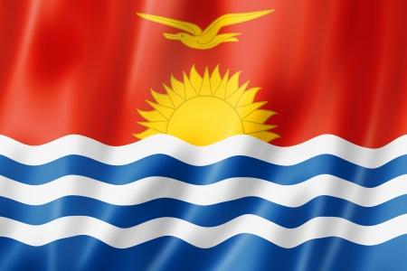 kiribati: Kiribati flag, three dimensional render, satin texture Stock Photo
