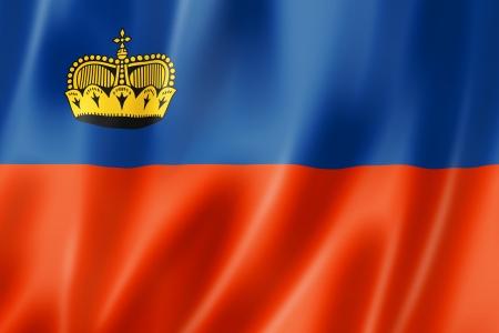 liechtenstein: Liechtenstein flag, three dimensional render, satin texture Stock Photo