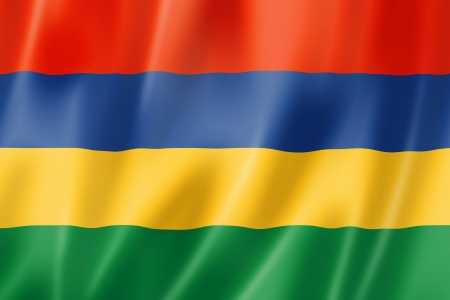 Mauritius flag, three dimensional render, satin texture Stock Photo - 19011556