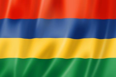 Mauritius flag, three dimensional render, satin texture Stock Photo - 19011556
