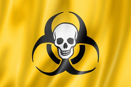 Biohazard death flag, three dimensional render, satin texture Stock Photo - 19449749