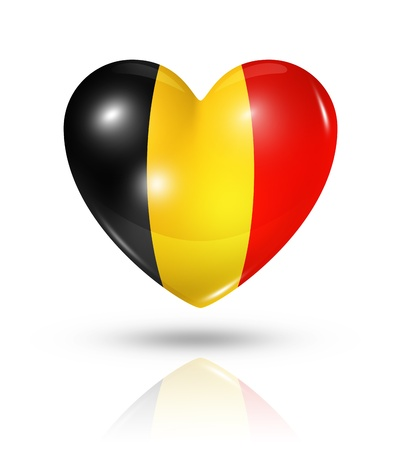 Love Belgium symbol  3D heart flag  photo