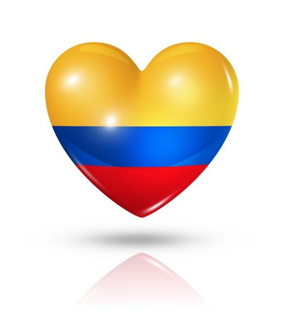 Love Colombia symbol  3D heart flag photo