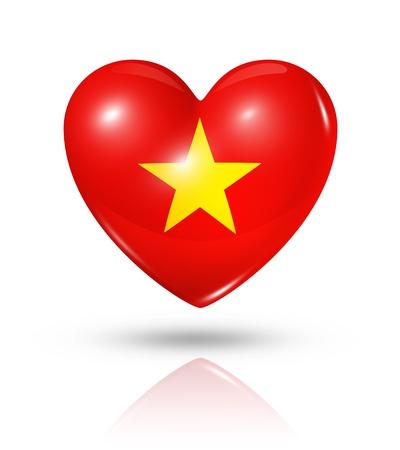Love Vietnam symbol  3D heart flag photo
