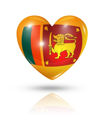 sri: Love Sri Lanka symbol  3D heart flag Stock Photo