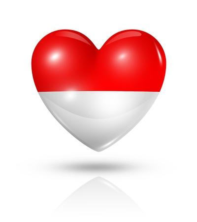 Love Monaco symbol  3D heart flag  photo