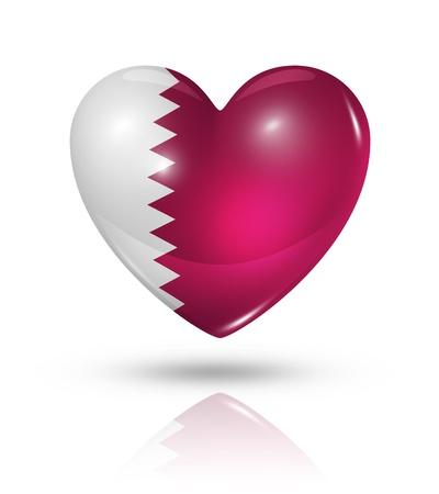 Love Qatar symbol  3D heart flag  Stock Photo - 22160397