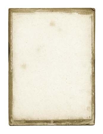 blanck: Grunge paper texture isolated on white Stock Photo