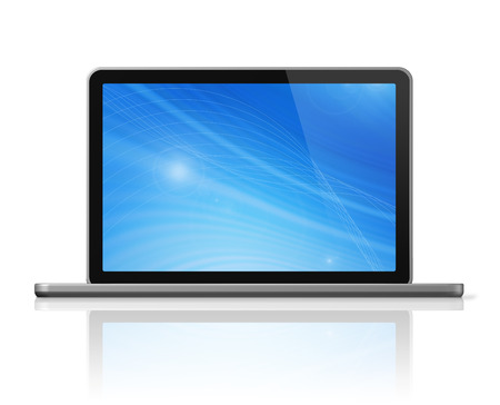 3D laptop computer isolated on white with clipping path Stock Photo - 24440615