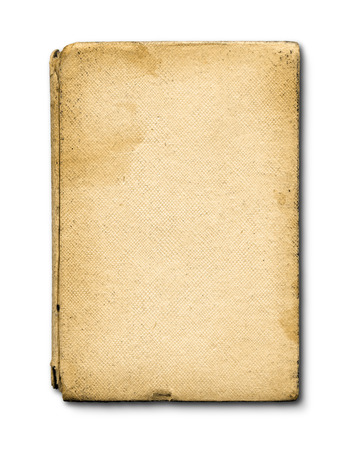 old notebook: old grunge closed notebook isolated on white with clipping path
