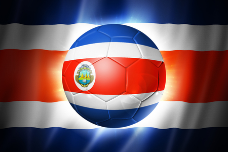 3D soccer ball with Costa Rica team flag, world football cup Brazil 2014 photo