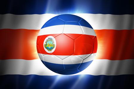 3D soccer ball with Costa Rica team flag, world football cup Brazil 2014 photo