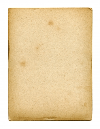 blanck: Old used paper texture isolated on white