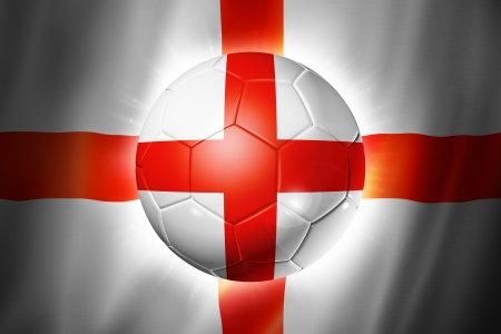 3D soccer ball with England team flag, world football cup Brazil 2014 photo
