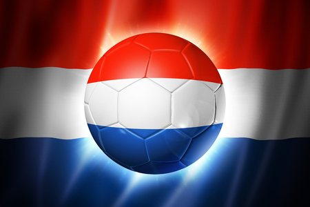 3D soccer ball with Netherlands team flag photo