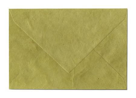 Natural recycled nepalese paper envelope photo