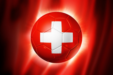 3D soccer ball with Switzerland team flag, world football cup Brazil 2014 photo