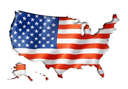 USA vlag, driedimensionale render, geïsoleerd op wit Stockfoto - 28264024