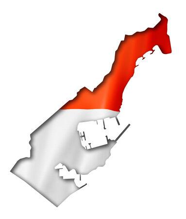 monaco: Monaco flag map, three dimensional render, isolated on white Stock Photo