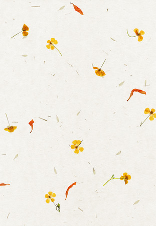 Handmade flower petal paper texture background