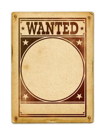Wanted poster geïsoleerd op witte achtergrond