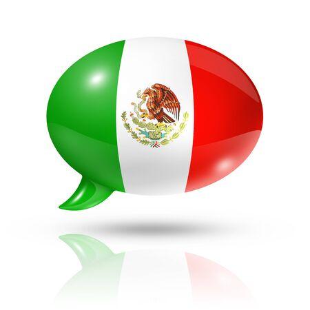 drapeau mexicain: tridimensionnel drapeau du Mexique dans une bulle isolé sur blanc