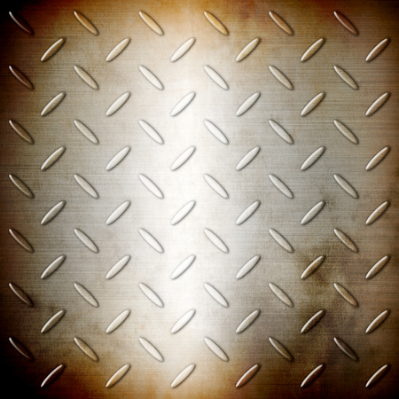 diamond plate: Rusty steel diamond brushed plate background
